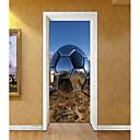 Χαμηλού Κόστους Ρούχα και αξεσουάρ για σκύλους-Αυτοκόλλητα πόρτας - 3D Αυτοκόλλητα Τοίχου Αφηρημένο / Ποδόσφαιρο Σαλόνι / Υπνοδωμάτιο