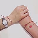 billige Mode Halskæde-Dame Kvadratisk Zirconium Klassisk Enlig Snor Armbånd Hunde Damer Simple Basale Mode Armbånd Smykker Rød Til Daglig Skole
