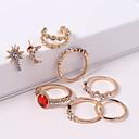 cheap Walkie Talkies-Women's Stylish Jewelry Set - Rhinestone Moon, Star Ladies, Vintage, European, Fashion Include Stud Earrings Clip on Earring Gold For Causal Club
