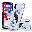 billige iPhone-etuier-Etui Til Apple iPhone X / iPhone 8 Plus Mønster Bagcover Fjer Blødt TPU for iPhone X / iPhone 8 Plus / iPhone 8