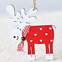 ieftine Decorațiuni Casă-Ornamente de crăciun Vacanță De lemn Pătrat Novelty Glob de Craciun
