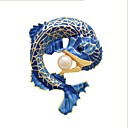 cheap Brooches-Women's Stylish Brooches - Imitation Pearl Fish Ladies, Stylish, Classic Brooch Jewelry Blue For Daily