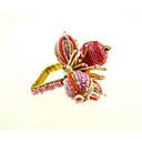 hesapli Peçeteler ve Peçete Halkaları-Klasik Cam / Plastik Dörtgen Peçete Yüzüğü Solid Çiçek Masa Süslemeleri 12 pcs