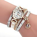 cheap Women's Watches-Women's Bracelet Watch Quartz New Design Casual Watch Imitation Diamond PU Band Analog Casual Fashion Black / White / Blue - Brown Red Blue One Year Battery Life