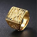 hesapli Yüzükler-Erkek Şık Yüzük - 18K Altın Kartal Moda Ayarlanabilir Altın Uyumluluk Günlük / Gece Partisi