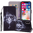 cheap iPhone Cases-Case For Apple iPhone X / iPhone 8 Plus Wallet / Card Holder / with Stand Full Body Cases Animal Hard PU Leather for iPhone X / iPhone 8 Plus / iPhone 8