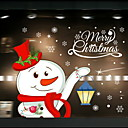 cheap Dog Clothing & Accessories-Window Film & Stickers Decoration Ethnic Style / Christmas Holiday / Character PVC(PolyVinyl Chloride) Window Sticker