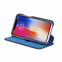رخيصةأون أغطية أيفون-غطاء من أجل Apple iPhone XS / iPhone XR / iPhone XS Max محفظة / حامل البطاقات / ضد الصدمات غطاء كامل للجسم لون سادة قاسي جلد PU