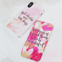 cheap iPhone Cases-Case For Apple iPhone X / iPhone 8 Frosted / Pattern Back Cover Word / Phrase / Oil Painting Hard PC for iPhone X / iPhone 8 Plus / iPhone 8