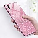رخيصةأون قلادات-غطاء من أجل Apple iPhone X / iPhone 8 Plus / iPhone 8 ضد الصدمات / تصفيح غطاء خلفي حجر كريم قاسي زجاج مقوى