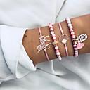 abordables Bracelets-Femme Effets superposés Bracelets de rive Bracelet à Pendentif - Résine Tortue, Ananas, Coquillage Bohème, Ethnique Bracelet Rose Pour Cadeau Cérémonie Carnaval / 4pcs