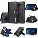 رخيصةأون إكسسوارات سامسونج-غطاء من أجل Samsung Galaxy Note 9 / Note 8 محفظة / حامل البطاقات / مع حامل غطاء كامل للجسم لون سادة قاسي جلد أصلي
