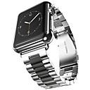halpa Kellohihnat-Ruostumaton teräs Watch Band Hihna varten Apple Watch Series 3 / 2 / 1 Musta / Kulta 23cm / 9 Tuumaa 2.1cm / 0.83 tuumaa