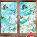 hesapli Pencere Malzmeleri-Pencere Filmi ve Çıkartma Dekorasyon Eski Tip Tarz Karakter PVC Renkli Gradyan