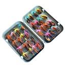 ieftine Momeală Pescuit-32 pcs Muște Δόλωμα Muște MetalPistol ABS Confecționat Manual Ușor de transportat Plutire Pescuit mare Pescuit cu Muscă Aruncare Momeală / Pescuit la Copcă / Filare / Pescuit la Oscilantă