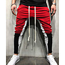 זול אביזרים ל-PS4-בגדי ריקוד גברים מידות גדולות רזה מכנסי טרנינג מכנסיים קולור בלוק