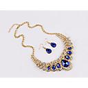 ieftine Bijuterii de Nuntă & Party-Pentru femei Safir citrin Sapphire sintetic Seturi de bijuterii de mireasă Clasic Picătură femei Modă cercei Bijuterii Curcubeu / Rosu / Albastru Pentru Petrecere Zilnic 1set / Cercei