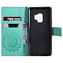 رخيصةأون أساور-غطاء من أجل Samsung Galaxy S9 / S9 Plus / S8 Plus محفظة / حامل البطاقات / مع حامل غطاء كامل للجسم زهور قاسي جلد PU