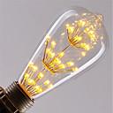 hesapli LED Şerit Işıklar-1pc 3 W 200 lm E26 / E27 LED Filaman Ampuller ST64 47 LED Boncuklar COB Dekorotif / Yıldızlı Sıcak Beyaz / Kırmızı / Mavi 85-265 V