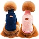 hesapli Köpek Giyim ve Aksesuarları-Köpekler / Kediler Svetşört Köpek Giyimi Solid Mavi / Pembe / Haki %100 Mercan Kumaş / Pamuk Kostüm Evcil hayvanlar için Unisex Spor ve Dış Ortam / Günlük / Sade