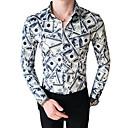 رخيصةأون قمصان رجالي-رجالي قميص, ألوان متناوبة / حيوان ياقة كلاسيكية نحيل / كم طويل / الخريف