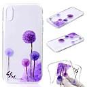 رخيصةأون أغطية أيفون-غطاء من أجل Apple iPhone XS / iPhone XR / iPhone XS Max شفاف / نموذج غطاء خلفي الهندباء / زهور ناعم TPU