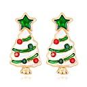 ieftine Ustensile & Gadget-uri de Copt-Pentru femei Cercei Stud #D Brad de Crăciun femei Clasic Modă Ștras cercei Bijuterii Curcubeu Pentru Crăciun Anul Nou 1 Pair