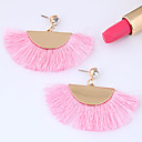 Χαμηλού Κόστους Σκουλαρίκια-Γυναικεία Φούντα Κρεμαστά Σκουλαρίκια - κυρίες Απλός Ευρωπαϊκό Μοντέρνα Κοσμήματα Μπλε / Ροζ / Ροζ Ανοικτό Για Causal 1 Pair
