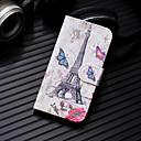 ieftine Încărcătoare Wireless-Maska Pentru Huawei Huawei P20 / Huawei P20 Pro / Huawei P20 lite Portofel / Titluar Card / Cu Stand Carcasă Telefon Turnul Eiffel Greu PU piele / P10 Lite