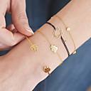 cheap Bracelets-Women's Cubic Zirconia Layered Chain Bracelet Bracelet Bangles Pendant Bracelet - Leaf, Drop, Clouds Simple, Sweet Bracelet Gold / Silver For Graduation Gift Daily / 4pcs