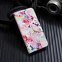 Недорогие Защитные пленки для iPhone 7-Кейс для Назначение Apple iPhone XS / iPhone XR / iPhone XS Max Флип / С узором Чехол Цветы Твердый Кожа PU