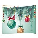billige Mode Halskæde-Jul / Familie Vægdekor 100% Polyester Moderne Vægkunst, Wall Gobeliner Dekoration