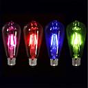 Χαμηλού Κόστους Λαμπτήρες LED με νήμα πυράκτωσης-4pcs 4 W LED Λάμπες Πυράκτωσης 360 lm E26 / E27 ST64 4 LED χάντρες COB Πάρτι Διακοσμητικό Γιορτή Κόκκινο Μπλε Πράσινο 220-240 V / RoHs
