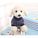 voordelige Hondenspeeltjes-Honden / Katten Sweatshirt Hondenkleding Kleurenblok / Eenvoudig Donkerblauw tekstiili Kostuum Voor huisdieren Unisex Normale / Vrije tijd