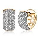 ieftine Cercei-Pentru femei Auriu Zirconiu Cubic diamant mic Cercei Clasic femei Modă cercei Bijuterii Auriu Pentru Petrecere Zilnic 1 Pair