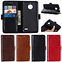 cheap Car Mounts & Holders-Case For Motorola Moto G6 Plus / MOTO G5 Plus Wallet / Card Holder / with Stand Full Body Cases Solid Colored Hard Genuine Leather for MOTO G6 / Moto G6 Plus / Moto G5 Plus