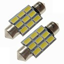 hesapli Araba İç Işıklar-SENCART 2pcs 36mm Araba Ampul 4.5 W SMD 5730 270 lm 9 LED İç Işıklar / dış Aydınlatma Uyumluluk