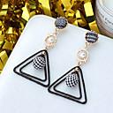 저렴한 귀걸이-여성용 클래식 드랍 귀걸이 펄 도금 골드 귀걸이 숙녀 유럽의 보석류 블랙 제품 일상 1 쌍