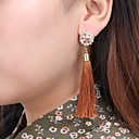 cheap Galaxy A Series Cases / Covers-Women's Cubic Zirconia Tassel Long Drop Earrings - Rhinestone Snowflake Spike Ladies Tassel Vintage Boho Jewelry Coffee / Red / Royal Blue For Party / Evening Ceremony 1 Pair