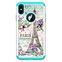 olcso iPhone tokok-Case Kompatibilitás Apple iPhone XR / iPhone XS Max Strassz / Minta Fekete tok Eiffel torony Kemény PU bőr mert iPhone XS / iPhone XR / iPhone XS Max