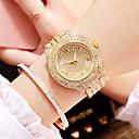 ieftine Ceasuri Damă-Pentru femei Ceasuri de lux Ceas de Mână Diamond Watch Quartz Oțel inoxidabil Argint / Auriu / Roz auriu 30 m Model nou imitație de diamant Analog femei Lux Modă - Auriu Argintiu Trandafiriu Un an