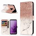 Недорогие Чехлы и кейсы для Galaxy S3-Кейс для Назначение SSamsung Galaxy S9 / S9 Plus / S8 Plus Кошелек / Бумажник для карт / со стендом Чехол Мрамор Твердый Кожа PU
