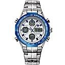 Недорогие Мужские часы-WWOOR Спортивные часы излучатели Защита от влаги, Календарь, Хронометр Черный и золотой / Серебристый / Синий / Нержавеющая сталь / Японский / Фосфоресцирующий / Японский
