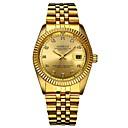 ieftine Ceasuri de Cupluri-Bărbați Ceas de Mână Quartz Oțel inoxidabil Auriu Cronograf Model nou Luminos Analog Lux Elegant - Auriu Alb Negru Un an Durată de Viaţă Baterie