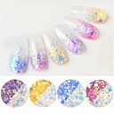 cheap Makeup & Nail Care-6 pcs Multi Function / Durable Eco-friendly Material Glitter Powder Loose powder For Creative nail art Manicure Pedicure Daily Trendy / Fashion