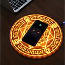 ieftine Colier la Modă-magie magie cerc magie încărcător de telefon wireless 5v / 1a pentru iphone xs max / xr / xs / x / 8/8 plus, pixel 3 / 3xl, galaxie nota 9 / s9 / s9 plus