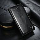 זול מגנים לאייפון-CaseMe מגן עבור Apple מגן אייפון5 ארנק / מחזיק כרטיסים / עם מעמד כיסוי מלא אחיד קשיח עור PU ל iPhone SE / 5s / iPhone 5