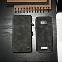 Недорогие Чехлы и кейсы для Galaxy S4 Mini-Кейс для Назначение SSamsung Galaxy S8 Кошелек / Бумажник для карт / со стендом Чехол Однотонный Твердый Кожа PU