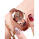 ieftine Ceasuri Bărbați-Pentru femei Ceas de Mână ceas de aur Quartz Oțel inoxidabil Negru / Roz auriu 30 m Rezistent la Apă Calendar Analog Casual Modă - Negru Roz auriu