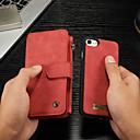 رخيصةأون حالات / أغطية ون بلس-غطاء من أجل Apple iPhone 8 / iPhone 7 محفظة / حامل البطاقات / مع حامل غطاء كامل للجسم لون سادة قاسي جلد PU